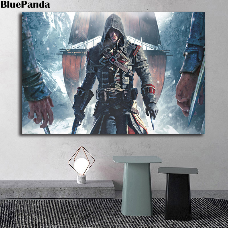Black Flag Is An Action-Adventure Painting Assassinings Creed Rogue Decorative Wall Art Pictures For Living Room Home Decor image
