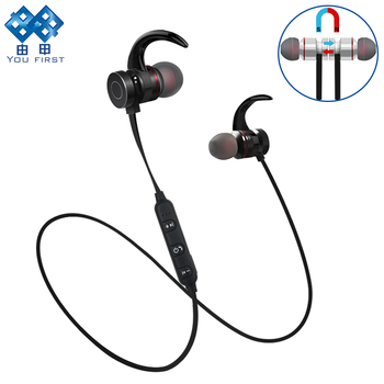 YOU FIRST Wireless Earphones Sport Magnetic Metal Stereo Wireless Headphones Bluetooth Earphone For Phone Auriculares With Mic
