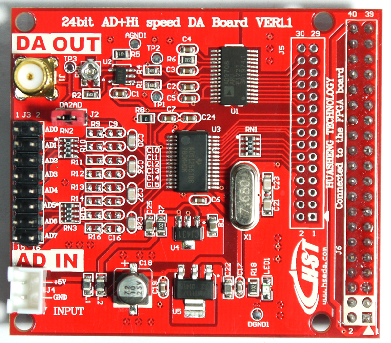 все цены на High precision AD DA ADS1256 8 channel input AD9708 24bit extended module FPGA control онлайн