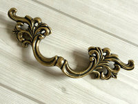 3 3 Leaf Dresser Drawer Pulls Handles Cabinet Door Knobs Pull Handle Antique Bronze Vintage Style