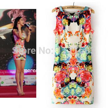 2014 Summer New Hot Sexy Dress O Neck Sleeveless V...