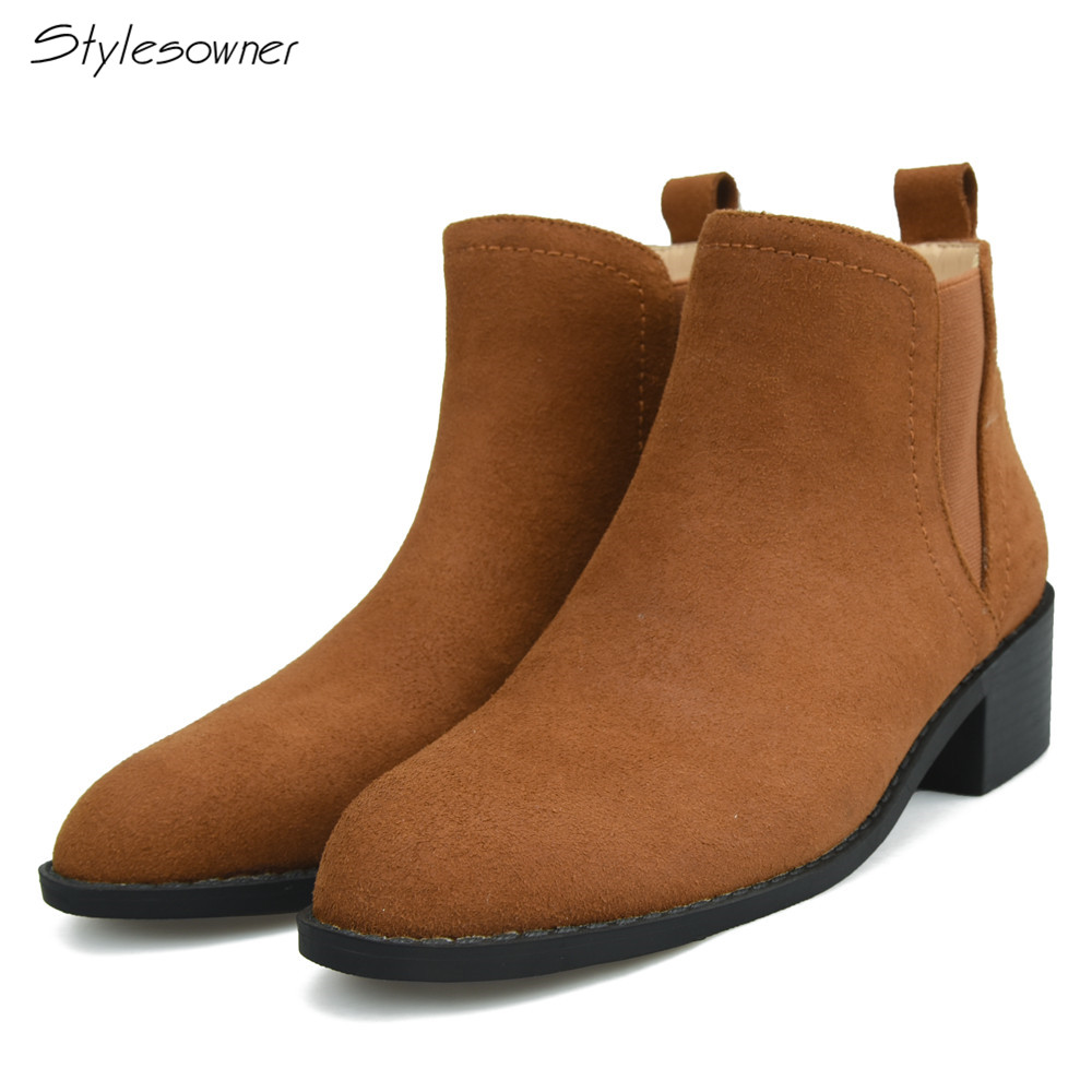 Stylesowner New Arrival Hot Selling Winter Ankle Boots For -9887
