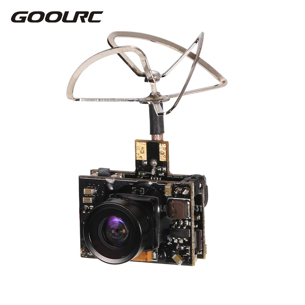 GoolRC 800TV FPV Camera 5.8G 40CH 25 100 200mW Transmitter IPEX Antenna for Inductrix QX90 H36 T36 NH-010 RC Racing Drone Part fx fx796t fx799t micro 5 8g 40ch 200mw av race transmitter