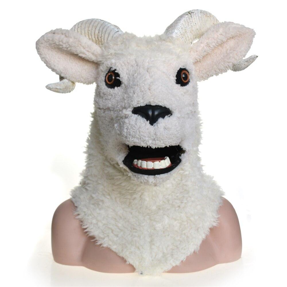 Costume de carnaval Cosplay mascarade de mouton d'agneau masque animal complet pour fête de carnaval d'halloween