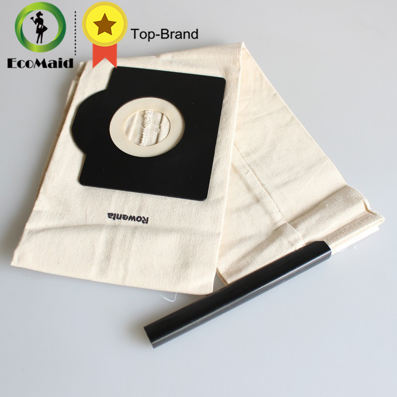 Ecomaid Vacuum Cleaner Bag,Washable Dust Bag for Vacuum Cleaner Rowenta,Karcher,HR6675,alaska,fakir,fif,wirbel,soteco,foma etc.