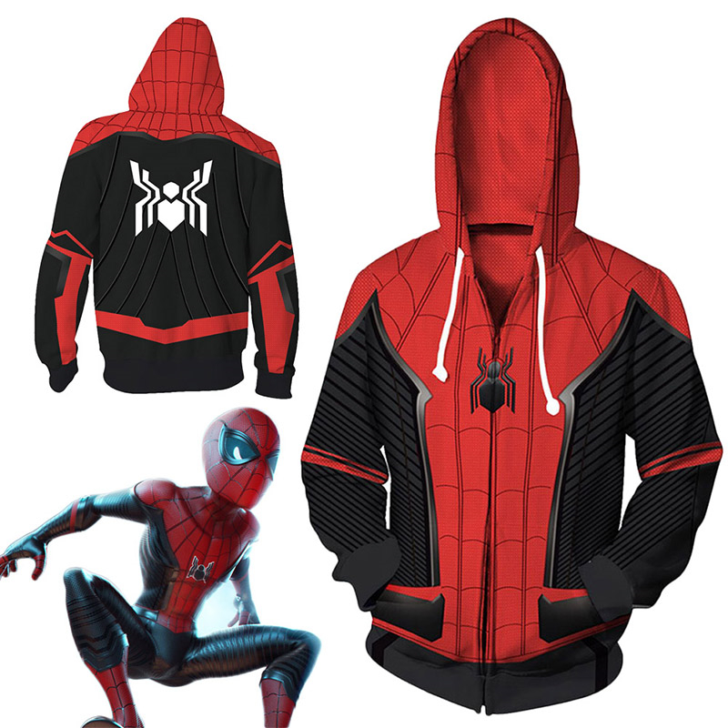 Hoodie 2019 Spiderman Heroes Expedition Cosplay Unisex Sweater Halloween Costume