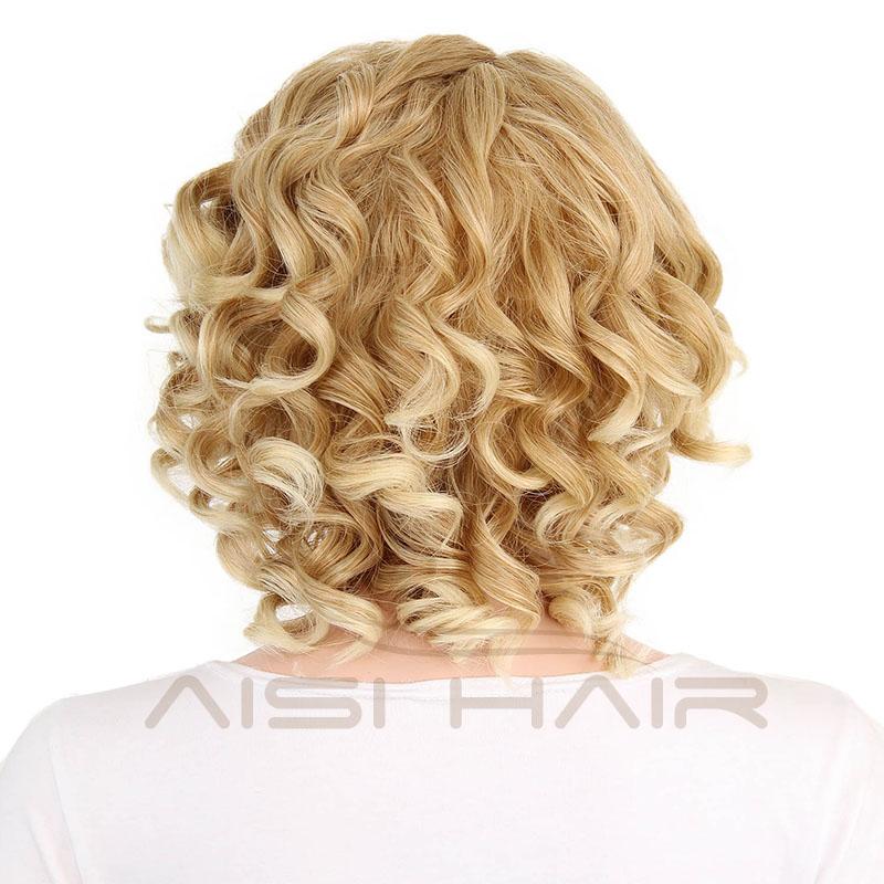 я в белокурый парик красные, черные искусственные парики короткие волосы для белый для женщин синтетический ломбер вьющиеся высокое температура волокно волос