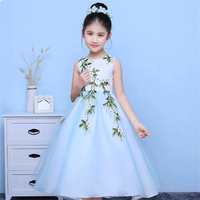 2017 New Arrival Korean Sweet Summer Fresh Children Girls Princess Dress Wedding Birthday Party Pageant Dress