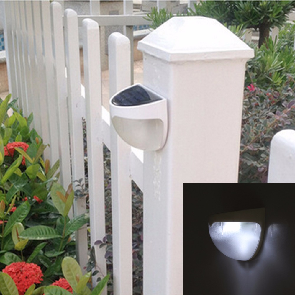 Solar Rechargeable Fence Light Outdoor Garden lamp Night Security Wall light Super Bright Waterproof Night Lamp