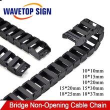 Кабельная цепь WaveTopSign 18x25 18x37 15x30 15x20 мм Тип моста неоткрывающийся пластиковый буксирный цепной передачи для машины