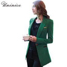 2017 Spring Blazers Women Jackets Slim OL Style Green Coat Women Blazer Female Clothing blazer Feminino Suit Tops New Arrival