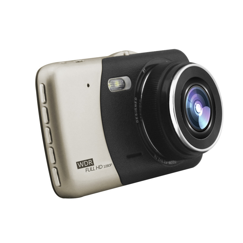 4.0 Inch Screen Dash Cam HD Night Vision Dual Lens Metal Travel Recorder Reversing Image 1080P Rear View Mini Car Camera DVR