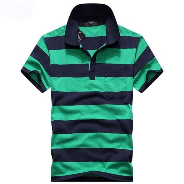 2018 Brand New Polo Hombre Shirt Men Fashion Slim Fit Striped Collar Shirts Short  Sleeve Casual Camisetas Masculinas Polo Men