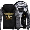 Dropshipping США 2016 мальчик лондон Толстовка С Капюшоном Куртки Пальто мода Капюшоном Толстые Молнии мужская Кофты
