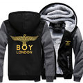 Dropshipping USA 2016 boy london Hoodie Jackets Coats fashion Hoodie Thick Zipper Men's Sweatshirts