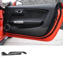 Lsrtw2017 углеродного волокна двери автомобиля анти-удар стикер для ford mustang 2015 2016 2017 2018 2019 6th поколения