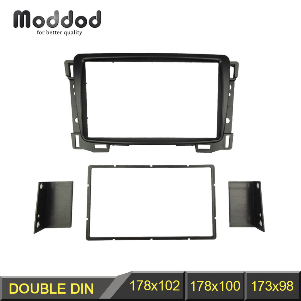 Radio Fascia til Chevrolet Sail Double 2 Din DVD stereo panel Dash Mount Install Trim Kit Refit Frame