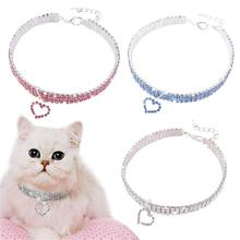 Pet crystal collar Kitten necklace Pet Pendant Shiny Bright