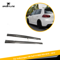 Carbon Fiber / FRP Car Side Skirts Body Lip Extension Aprons for VW Golf 6 R20 Only 2010 2011 2012 2013