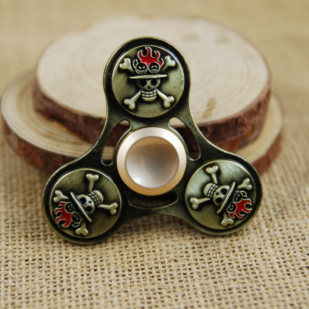ONE PIECE Tri-Spinner Fidget Toy Metal EDC Fidget Hand Spinner For Autism and ADHD Rotation Time Long Anti Stress Toys Focus Toy creative ceramic tri spinner fidget toy edc hand spinner for autism and adhd stress relieve toy rotation time beyond 6 minutes