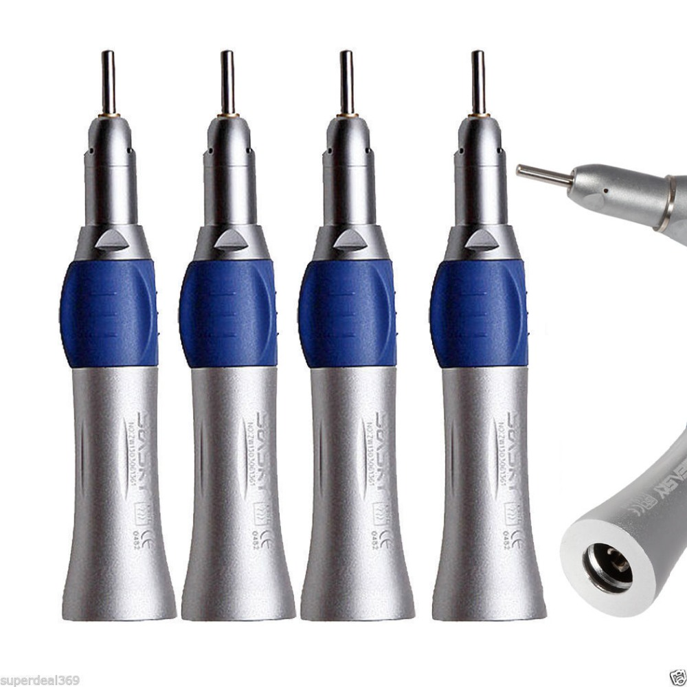 4 PCS NSK Dental Slow Low Speed Straight Nose Cone Handpiece Fit E-TYPE Motor