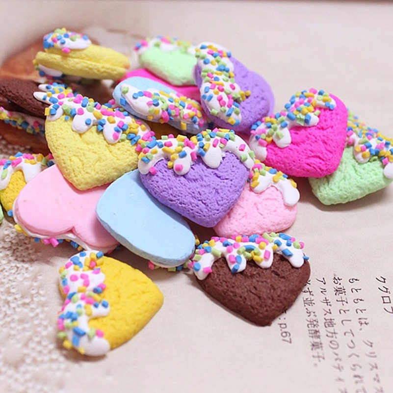 US $13 63 13% OFF|Tanduzi 100pcs Wholesale Clay Heart Flatback Cabochon  Sprinkles Hearts Polymer Clay Crafts Scrapbooking Accessories DIY-in  Figurines