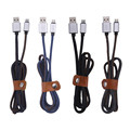 New Metal Denim Micro USB Cable 30cm 100cm Charging Cord 2.0 Data sync Charger Cable for Samsung Xiaomi Huawei Android Phones