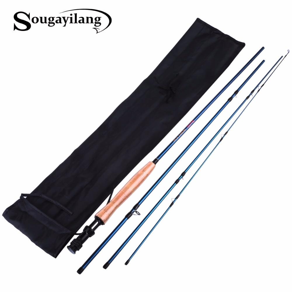 все цены на  Sougayialng High Carbon Fiber Fly Fishing Rod 8.86FT #5 Fly Fishing Rod 2.7M Fly Rod 4 Sections Spinning Fishing Rod De Pesca  в интернете