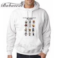 Babasealをtimey wimey冒険のドクター白3dプリンタスリムフィットパーカー用男性フーディネックプリントスウェットシャツ