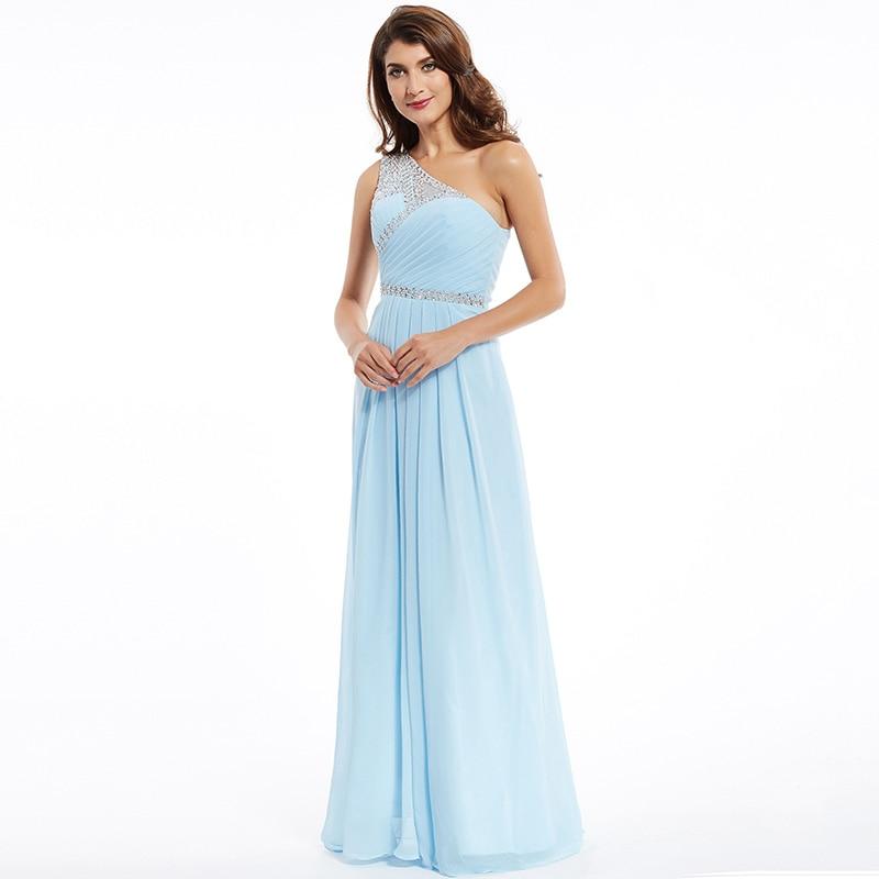 Tanpell une épaule robe de soirée pas cher ciel bleu sans manches - Habillez-vous pour des occasions spéciales - Photo 2