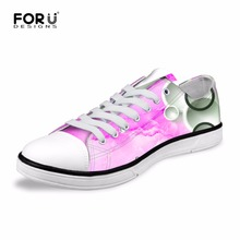 FORUDESIGNS Pink Fashion Women Casual Shoes Low Spring Summer Canvas Vulcanized Shoes for Ladies Women's Flats Zapatos Mujer