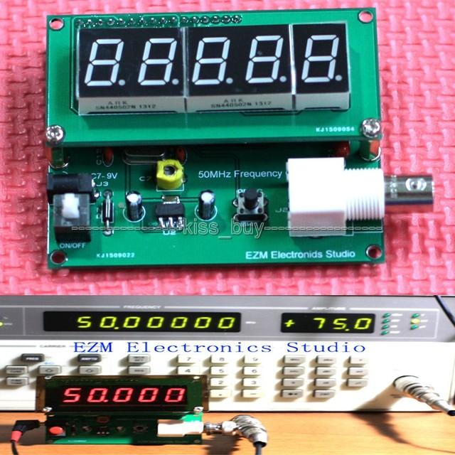 Alta precisão contador de 1 MHZ a 50 MHz Frequncy cymometer indicador de Interface BNC