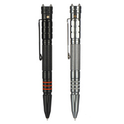 Multifunctional Tungsten Steel Tactical Pen Tool With LED Flashlight Torch Lamp Self Protection Security Safety Hammer