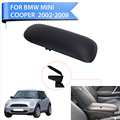 Black Auto Car PU Leather Console Storage Box Sliding Top Armrest Lid Cover For BMW Mini Cooper R56 R50 R53 2002-2008 #P520-1
