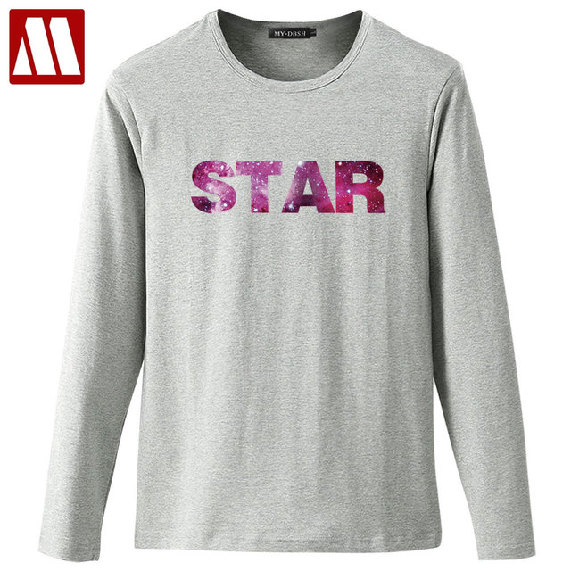 aabaf819f0a7 Fashion Brand Galaxy Space Star 3D Printed Men s T-shirt Hip Hop Stars  Letter Print