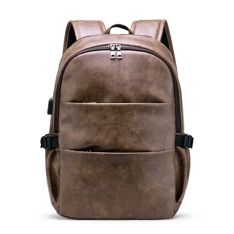 2019 Brand Men Laptop Backpack Leather School Backpack Bag Fashion Waterproof Travel Bag Casual Leather Book Bag Male Vintage2019 Brand Men Laptop Backpack Leather School Backpack Bag Fashion Waterproof Travel Bag Casual Leather Book Bag Male Vintage