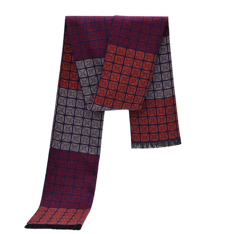 One Piece Men Cashmere Scarf Winter Luxury Brand Design font b Tartan b font Bufandas Plaid