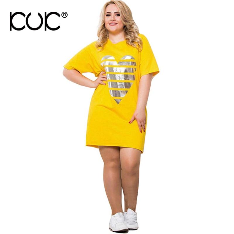 Kuk Plus Size Dresses For Women 4xl 5xl 6xl Summer Pink Yellow Blue Big Size Women Clothes Casual Ladies Vestidos 3XL A646
