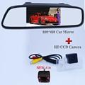 """2 en 1 4.3 """"HD Monitor Del Espejo de Coche trasero viewparking monitor + HD CCD Cámara de visión trasera para Nissan TEANA Sylphy TIIDA Altima"""