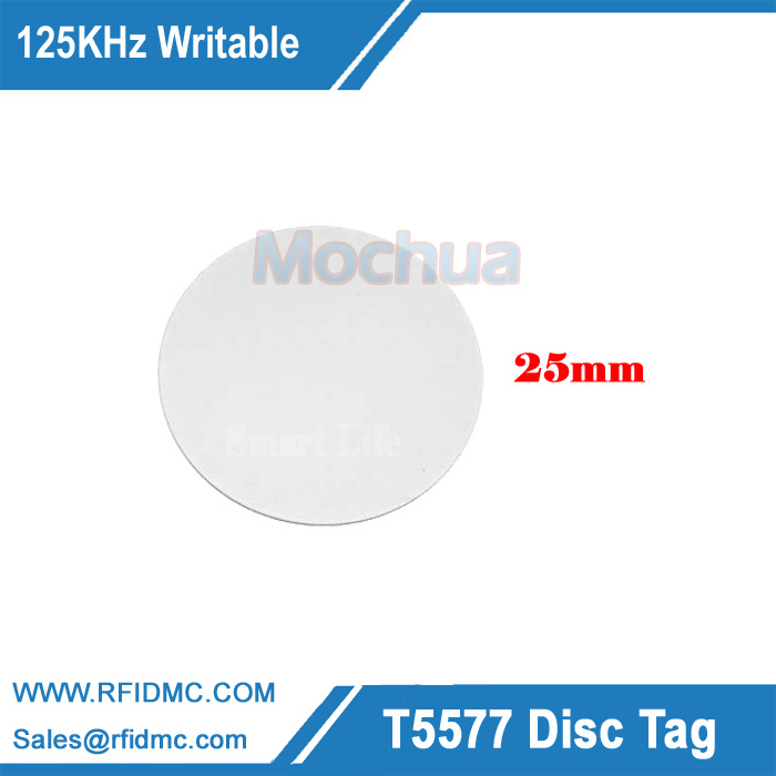 125KHz Copy Key T5577 Round Tag PVC RewritableCoin Cards-10pcs