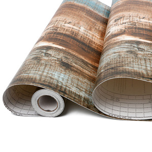 Image 4 - Rollo de papel tapiz de madera de vinilo autoadhesivo de PVC impermeable para sala de estar, cocina, habitación de niños, paredes, papel de contacto de madera