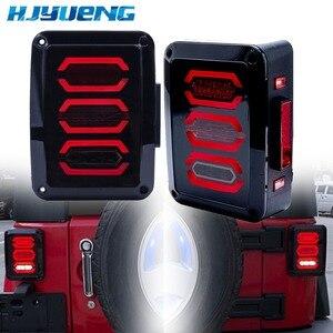 Image 1 - HJYUENG LED 2007 2016 Für Jeep Wrangler mit Lauf Bremse Backup Reverse Drehen Signal Licht Rücklicht Montage