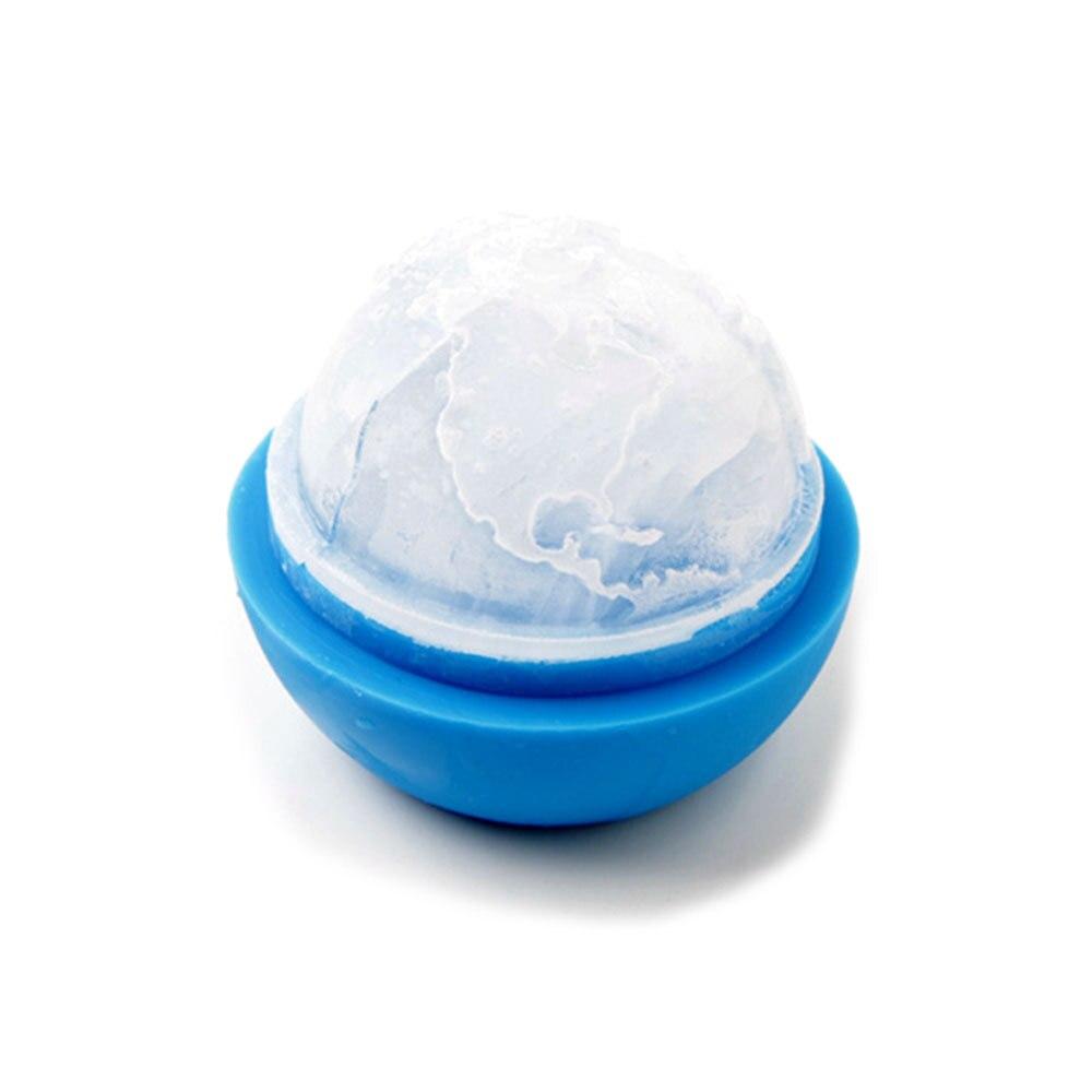 Cute Blue Shaped Ice Mold Tub Round Ball Tray Mold Party Bar Ice ...