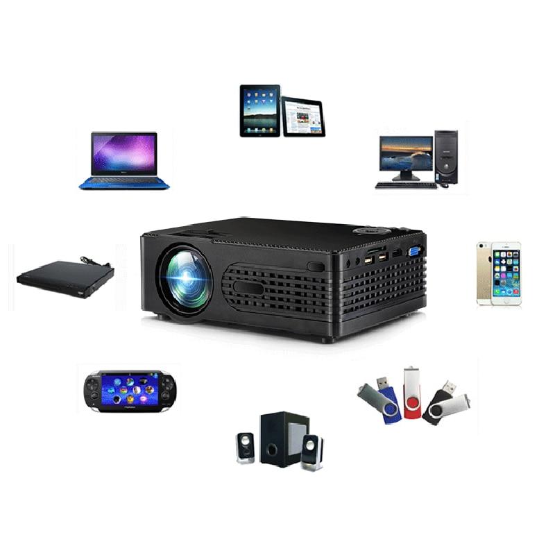 Projector Entertainment Video-Device Audio LED Multi-Language Mini HD Home