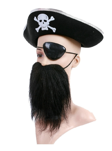 Halloween Accessories Mask Skull Hat Caribbean Pirate Hat Skull Pirate Hat  Piracy Hat Corsair Cap Party df6abbd4ed1a