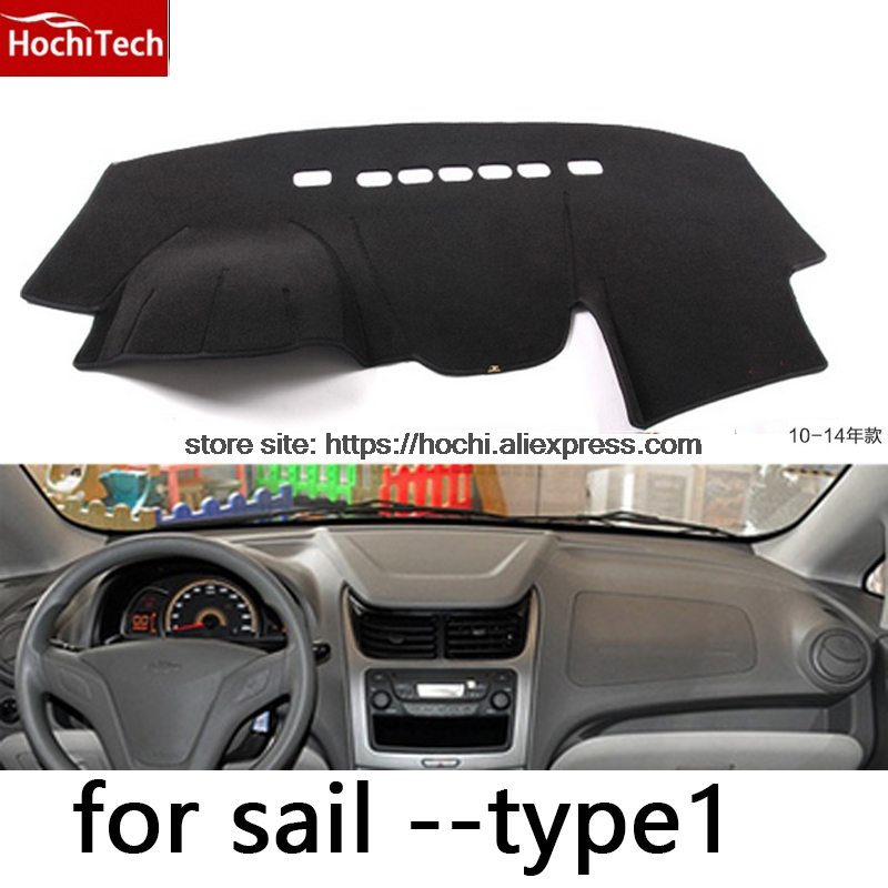 HochiTech For Chevrolet Sail 2010-2016 Dashboard Mat Protective Pad Shade Cushion Photophobism Pad Car Styling Accessories