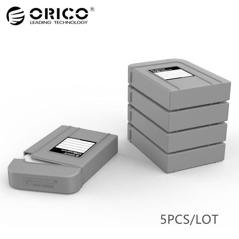 ORICO 3,5 HDD funda bolsa HDD protección externa Protector Disco Duro cubierta caja con función impermeable-5 unids gris