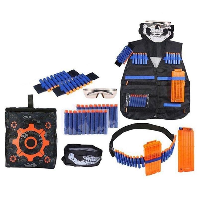 TOP!-28 Pcs Ultimate Tactical-Vest Holster Belt Wristbands Refill Darts Kit For Nerf-Guns N-Strike Elite Series