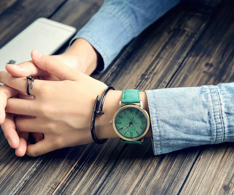 MEIBO Relojes Women Quartz Watches Denim Design Leather Strap Male Casual Wristwatch Relogio Masculino Ladies Watch female watch 4