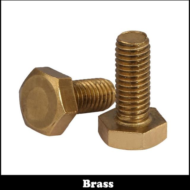 M8 M8*16/20/25/30/35/40 M8x16/20/25/30/35/40 DIN933 Metric Thread Bolt Brass External Hex Hexagon Head Screw